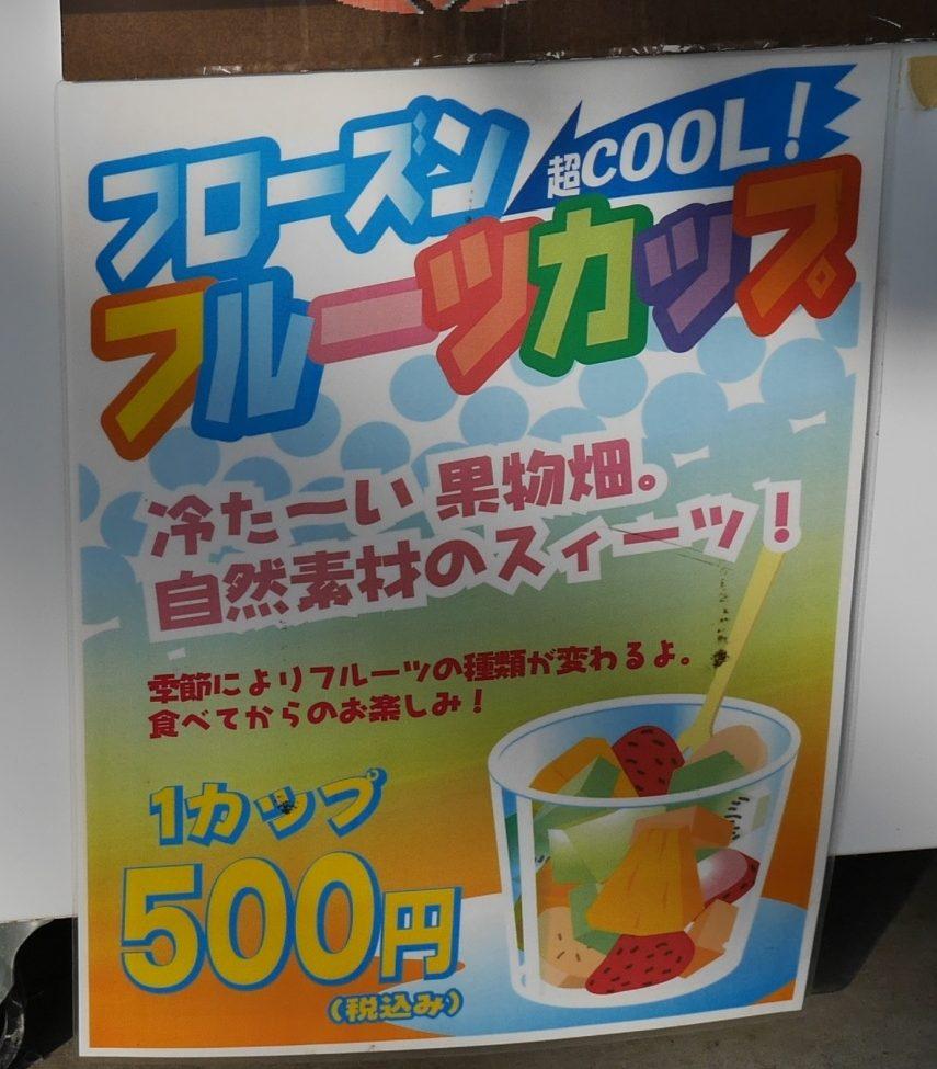 フローズンフルーツカップ1カップ500円
