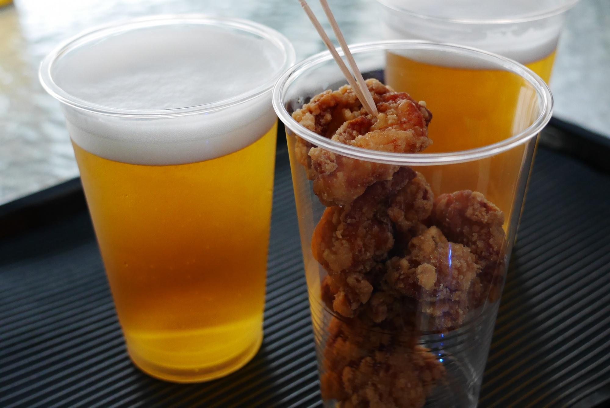 カラアゲ500円ビール530円