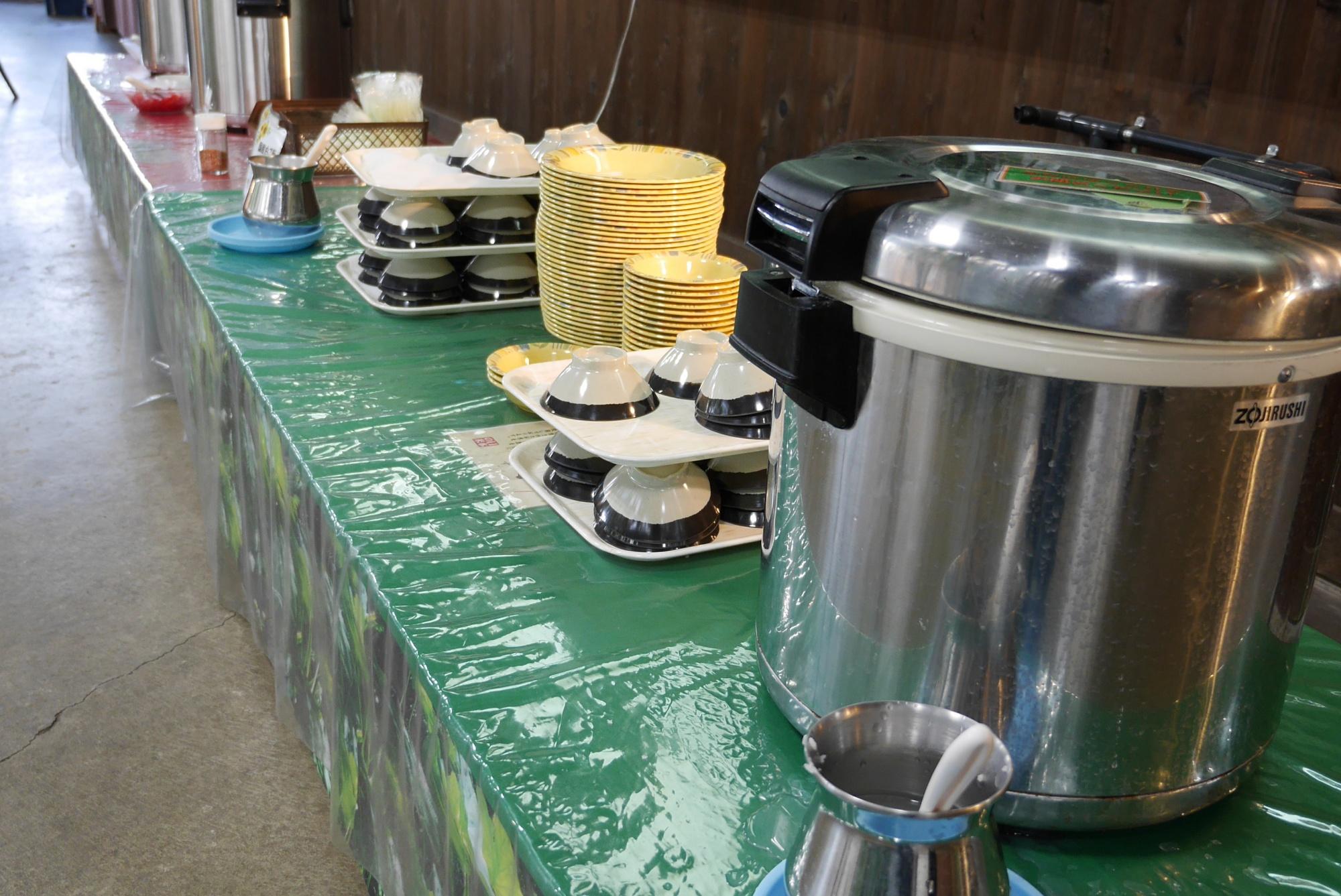 ご飯、カレー、スープコーナー